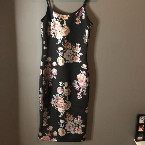 Below the knee floral dress